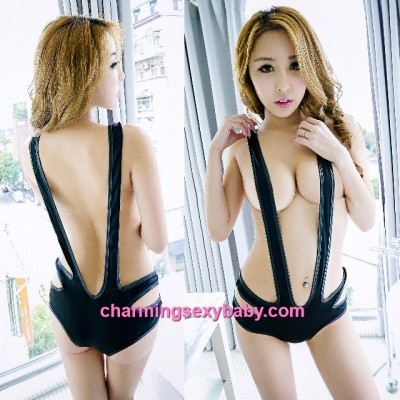 Sexy Lingerie Black Thong Teddies Straps Bodysuit Night Sleepwear BH5044
