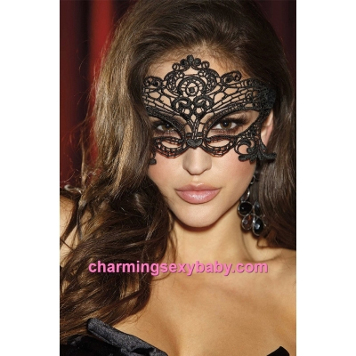 Black Eye Mask Women Masquerade Cat Cosplay Costume Sexy Lingerie Accessories BHN001