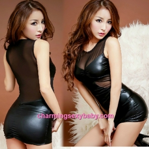 Sexy Lingerie Black See-Through Clubwear Party Dress Costume Nightwear MH8811