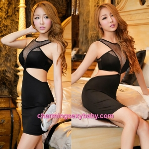 Sexy Lingerie Black Dress Clubwear Party Dress Nightwear Sleepwear MH8853