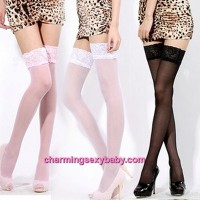 Sexy Lingerie Lace Over The Knee High Socks Thigh Pantyhose Stockings (5 Colors) QQ101