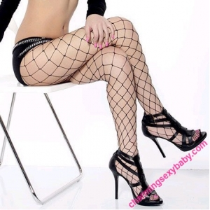 Sexy Fishnet Big Mesh Stocking Pantyhose Hosiery Lingerie Woman Nightwear Clubwear WW8130