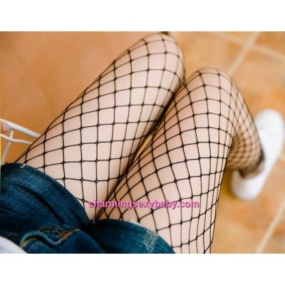 Sexy Fishnet Medium Mesh Stocking Socks Pantyhose Hosiery Lingerie Nightwear WW8130