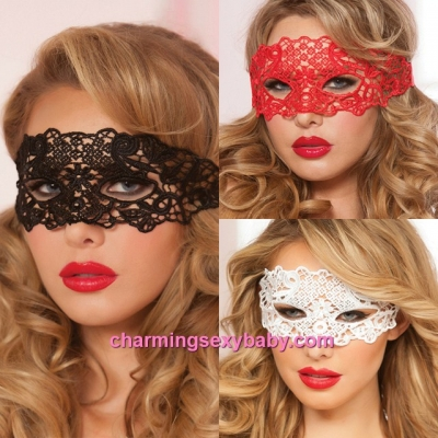 Sexy Eye Mask Women Masquerade Cosplay Costume Lingerie Accessories (3 Colors) MM202