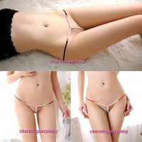 Sexy Women Underwear Pearl G-String Panties T-Back Knickers (7 Colors) LY160