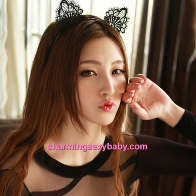 Sexy Lingerie Accessories Cat Ears Hair Band Colsplay Costume Partywear (2 Colors) BHM006