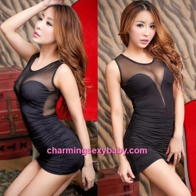 Sexy Lingerie Black Party Dress Clubwear Costume Nightwear Sleepwear MH8825