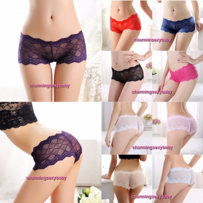Women Sexy Underwear Wave Panties Knickers Boyshorts G-String Lingerie (9 Colors) LY1003