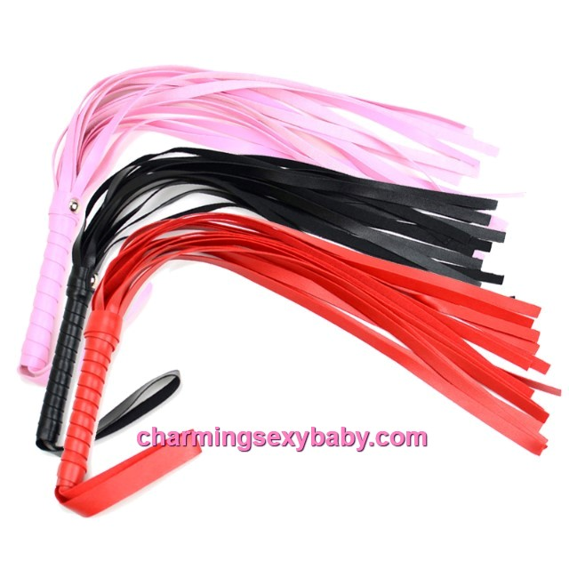 Small PU Leather Whips Bondage Flogger Tassels Couple Adult Games (3 Colors) CAW2-S