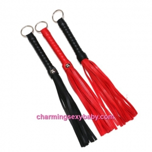 Small PU Leather Whips With Ring Bondage Flogger Tassels Couple Adult Games (3 Colors) CAW3
