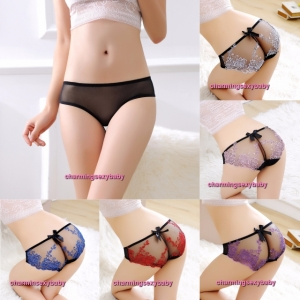 Sexy Women Underwear Floral Transparent Panties Knickers Briefs Lingerie (5 Colors) LY3113