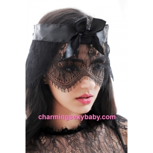 Black Lace Eye Mask Masquerade Cosplay Costume Sexy Lingerie Accessories MM198