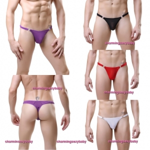 Sexy Men's Underwear See-Through Thong Briefs Lingerie (4 Colors) LY3023