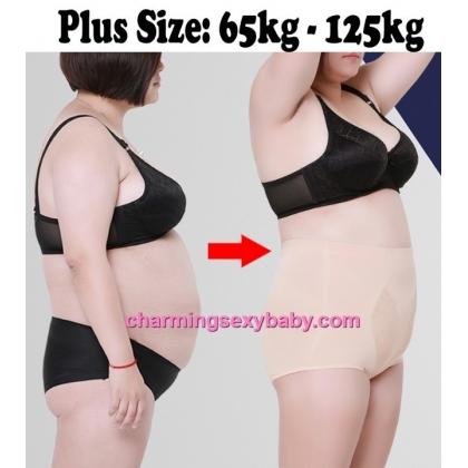 Women Plus Size Body Shaper Fitness High Waist Cotton Underwear Abdomen Panties PY5137