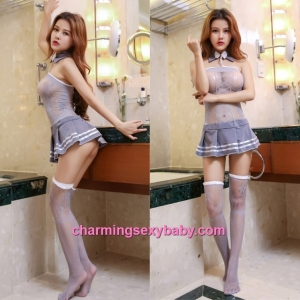Sexy Fishnet Body Stocking Student Dress Hosiery Lingerie Sleepwear WWL6040