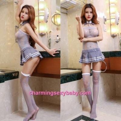 Sexy Fishnet Body Stocking Student Dress Hosiery Lingerie Sleepwear WWL6040