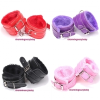 PU Leather Handcuffs Bondage Couple Adult Games (4 Colors) CAH2