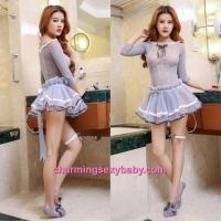 Sexy Fishnet Body Stocking Dress Hosiery Lingerie Costume Nightwear WWL6036