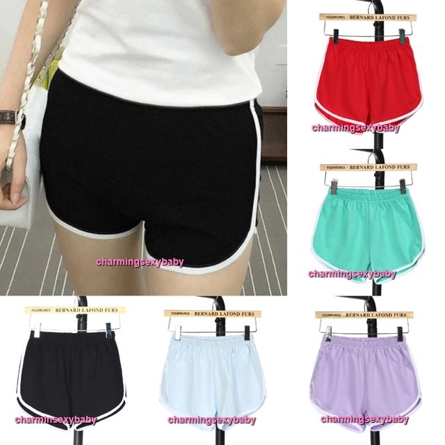 Women 95% Cotton Sport Shorts Yoga Gym Casual Slim Outdoor Running Jogging Soft Short Pants (8 Colors) QD166