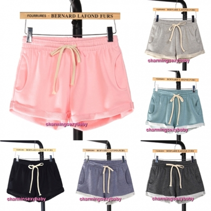 Women Cotton Shorts Casual Outdoor Short Pants (6 Colors) QD112