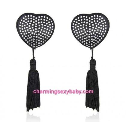 Women Sexy Lingerie Accessories Tassel Bra Crystal Nipple Cover CNC